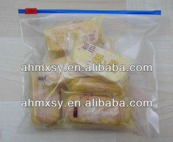 transpant slide ziplock bag