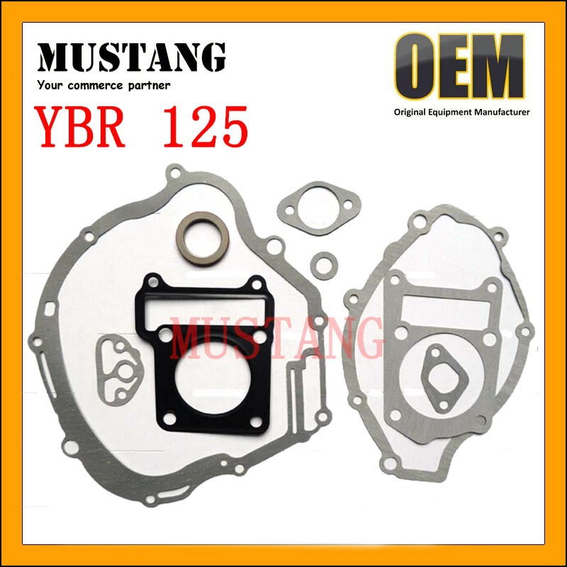 2017 Newest Design Oil Resistant YBR125 Motorcycle Engine Gasket Set Kit