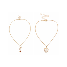 Handmade simple single chain <strong>necklace</strong> 18k gold-plated <strong>necklace</strong> rose love heart diamond cross gold pendant <strong>necklace</strong> for boy girl