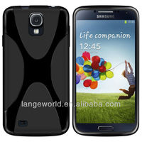 2013 Hot Selling Slim Fit X Line Wave Flexible TPU Case Cover for Samsung Galaxy S4 SIV I9500