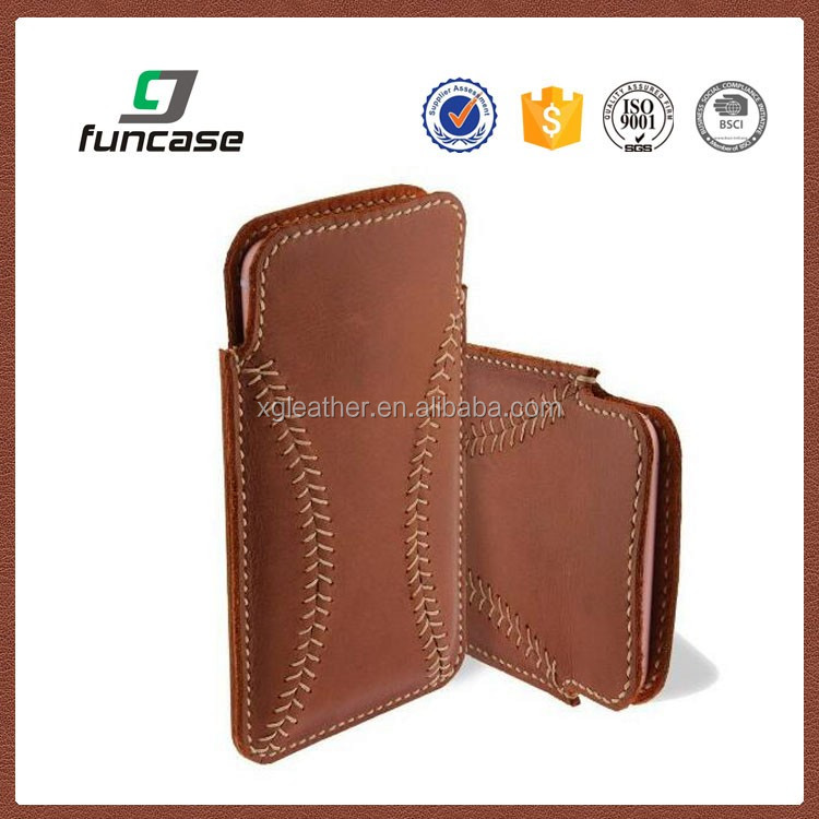 2016 custom wholesale universal smart phone wallet style leather case baseball phone case for iphone 7