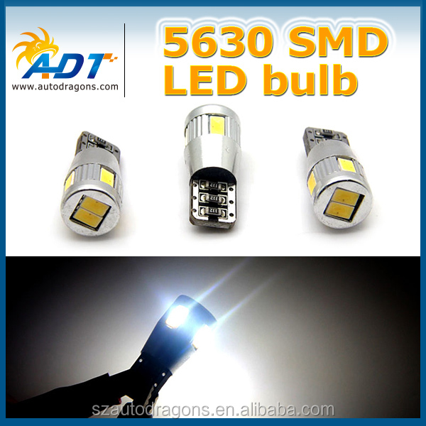 High quality T10 Canbus no error 5630 smd led bayonet auto led