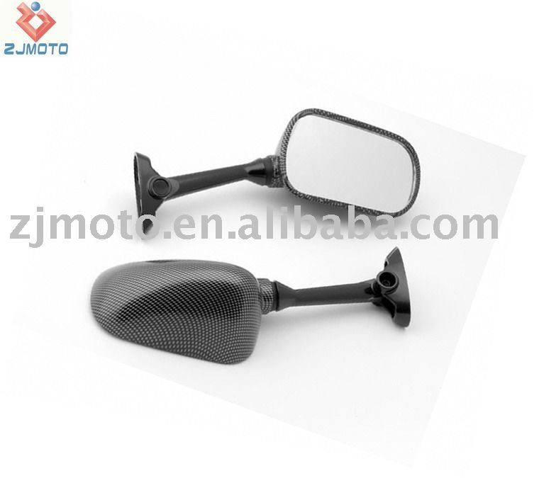 MOTORCYCLE MIRRORS 2003-2006 Suzuki GSXR 1000 / SV 650 1000 Carbon Racing Mirrors