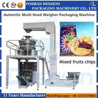 Snacks Food Packaging Machine For Mixed fruits chips