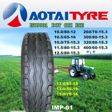 high quality kingway IMP-01 pattern pneus 12.5/80-18 implement tyres