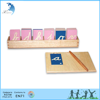 Direct selling early education screen printing decorative mdf alphabet letters