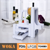 New design hot sales made in China manufactory tri-blade plastic spiral vegetable slicer