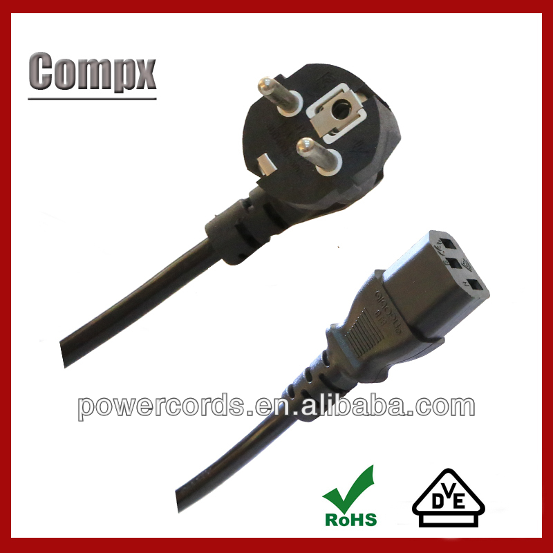 vde schuko power cord 16a cee plug VDE H05V2V2-F cable power cord