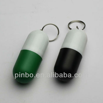 Mini Pill Box Keychain