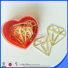 school stationery supplies diamond gold paper clip