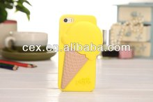 High Quality 3D Melt Ice Cream Cone Silicon Soft Cover Case For IPhone 4 4s/5 5s