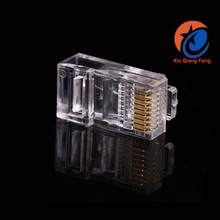 Wholesale male ethernet rj45 plastic connector 8 pin connector telephone cable connector modular plug crystal head