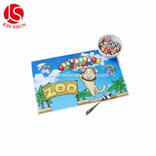 Animal Zoo Pattern Beatuiful Table Stick Placemat With self-adhesive back side
