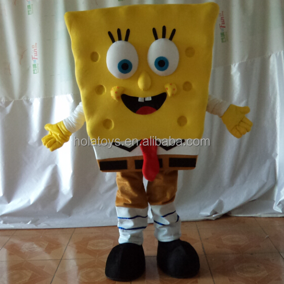 Hola TV & movie sponge bob mascot costume/mascot/mascot costume cartoon adult