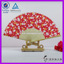 party gift Bamboo silk fan craft fan lady hand fan