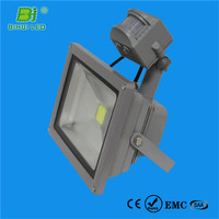 UL/cUL/PSE/LM79/LM80 high power cob led floodlight with human body sen