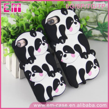 Hot Selling 3D Cute Panda Shape Silicone Mobile Phone Case for Mobile Phone