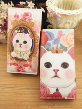 Free shipping lovely cat women wallet cheap price wallet for women