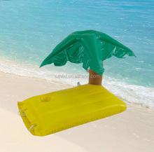 Palm tree island inflatable drink holder, pool float beer holder