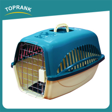 Hot sale small pet dog cages cheap wholesale plastic dog cage with steel wire door