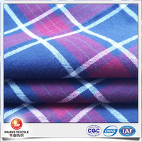 100% cotton yarn dyed flannel fabrics for shirts and blouses