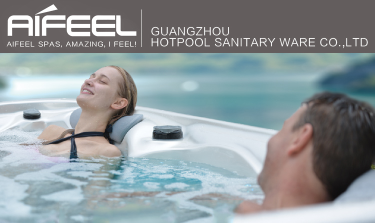 2017 Chinese best hotselling Freestanding balboa system outdoor spa hydromassage 6 person mini hot tub