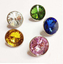 Shiny crystal button/jewel snap button for apparel