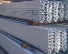 Easy installation two waves barrier used corrugated beam Highway Guardrail For Sale
