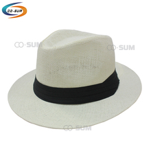 cosum brand new fashion panama paper cap cowboy top straw hat