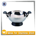 Stainless Steel Colander with plastic handle and bottom