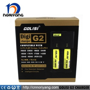 2016 Vaping Mod Newest black color 18650 battery charger, Wholesale GOLISI G2 Charger