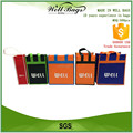 custom reusable non woven fabric bottles Wine tote bag front pocket alibaba trade assurance