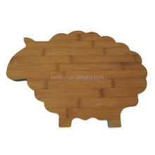Wooden sheep shaped kitchen accessories child cutting board