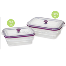 Microwave Safe Leakproof Lunch Box Collapsible Silicone Food Container