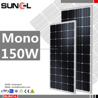 150w solar panel 12v with mono crystalline 36 cells 4 busbar