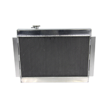 car aluminum radiator water tank match with the tank radiator fan for HOLDEN V8 HQ style universal 3 core MT