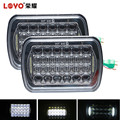 "Promotion! 5D 5x7"" 5x7inch LED Driving Light 7"" Square Offroad LED Headlight for Jeep"