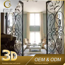 Bedroom Decorating Folding Gate Design Steel 3D Wall Paper