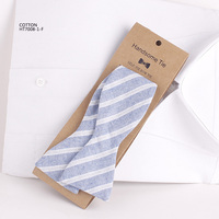 Classic Colorful Stripe Cotton Self Tie Bow Ties For Men China Mill