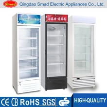 High Quality Supermarket Supplies upright glass door display refrigerator