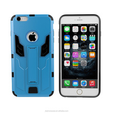 Slim light stand durable transformer cell phone case for iPhone 6 6 plus robot cover