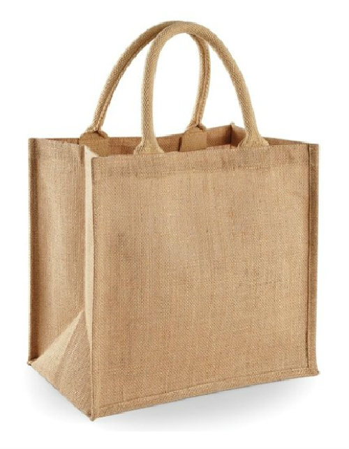 custom burlap tote bag with strong handle