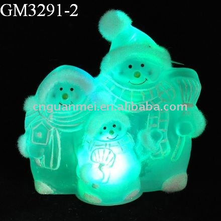 christmas snowman family with led light
