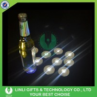Custom Promotion Colorful Motion Sensor Flashing Bottle Coaster,Light Up Bottle Coaster,Led Light Drink Coasters
