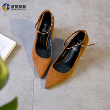 Wholesale footwear 2017 very popular style ladies high heel fancy sandals