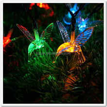 LED Solar Powered Plastic Birds Lights For Garden Decoration HNL131S