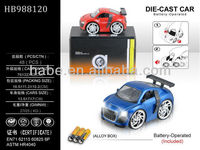 mini Q 1:28 hand shaking induction electric die-cast metal model car with lights and music(include battery) BO car
