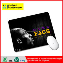 Basketball Game Face Kobe Fighting Nice Shoot Nature Rubber Mouse Pads