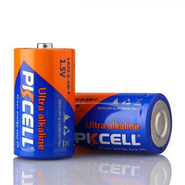 PKCELL 1.5Volts LR20 Size D Batteries Alkaline Dry Battery