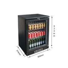 0~+10C Remote Unit Back Glass Door Bar Beer Bottle Counter Cooler/Hotel Mini Fridge